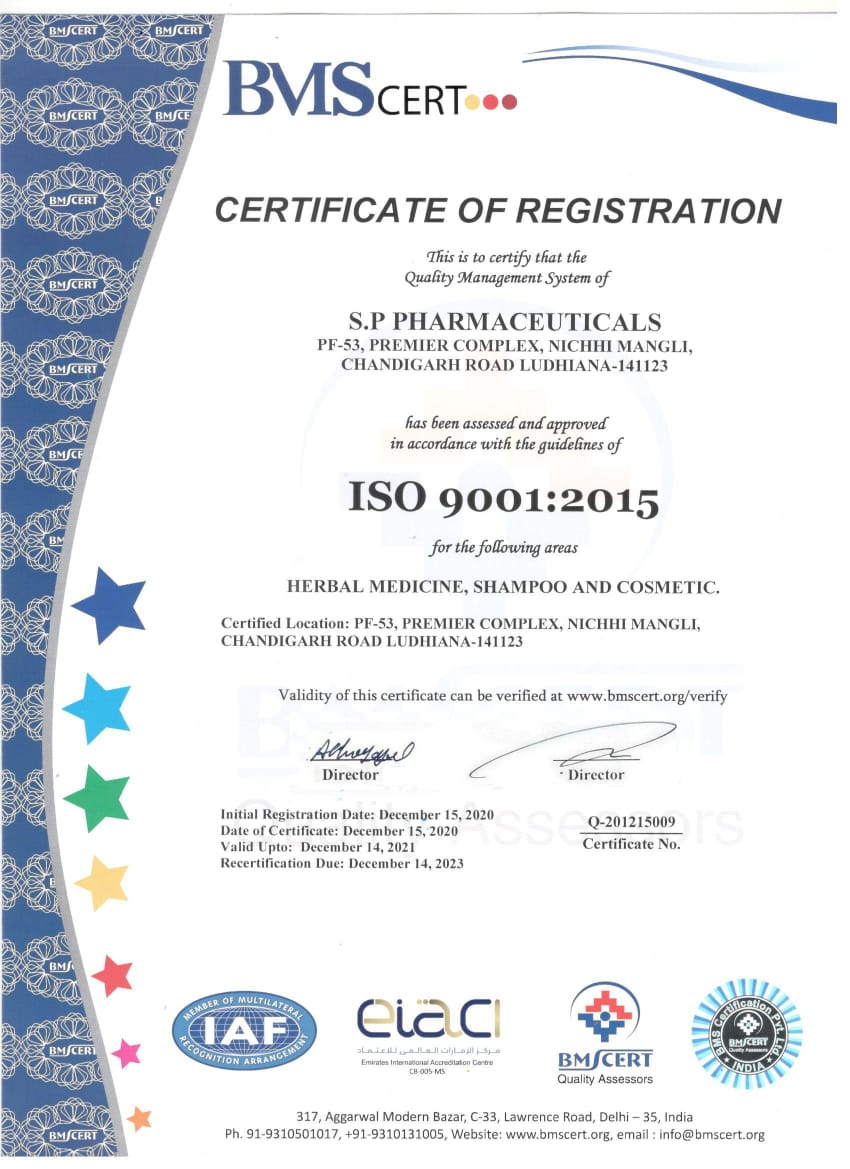 ISO 9001-2015 CERTIFICATION